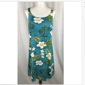 Womens Vtg Hawaiian Shift Dress Rayon Sz M